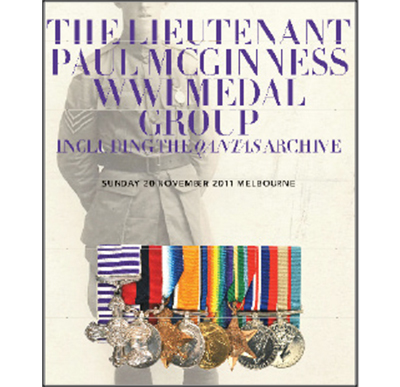 The Lt. Paul McGinness WWI Medal Group,