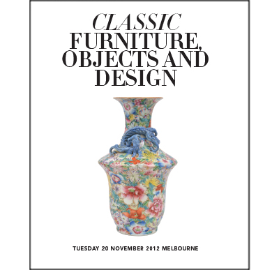 Classic Furniture, Objects and Design Auction,