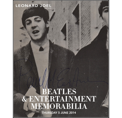 Beatles & Entertainment Memorabilia,