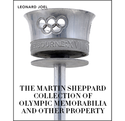 The Martin Sheppard Collection of Olympic Memorabilia (and other property),