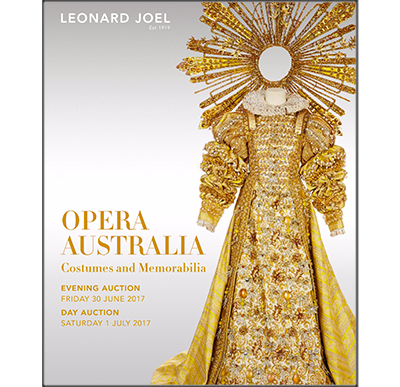 Opera Australia Costume & Memorabilia Auction - Evening Auction, Session 1: Lots     1  to   100A